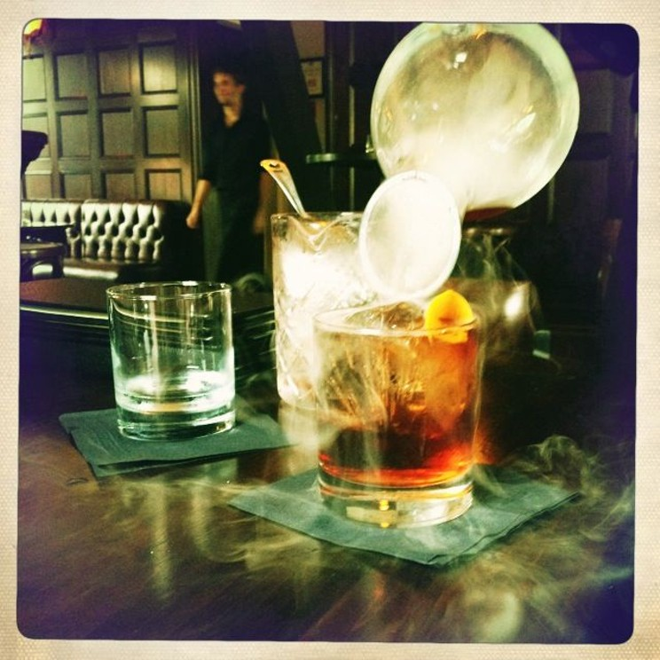 Smokey cocktails at The Drawing Room, the best secret bar in the city.