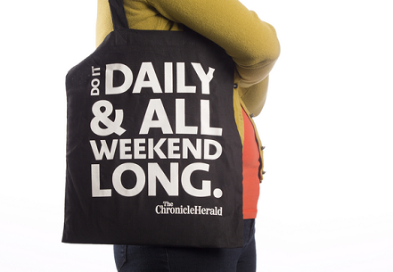 Suggestive totes still available at heraldshop.ca