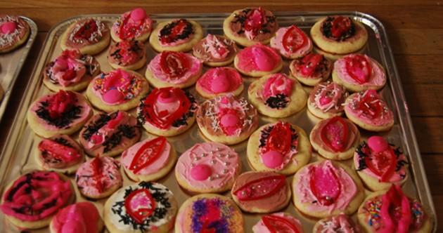 Sweet little vag cookies.