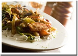 Thai one on The Thai chicken stir-fry mixes it up at Gatsby's.photo Rob Fournier
