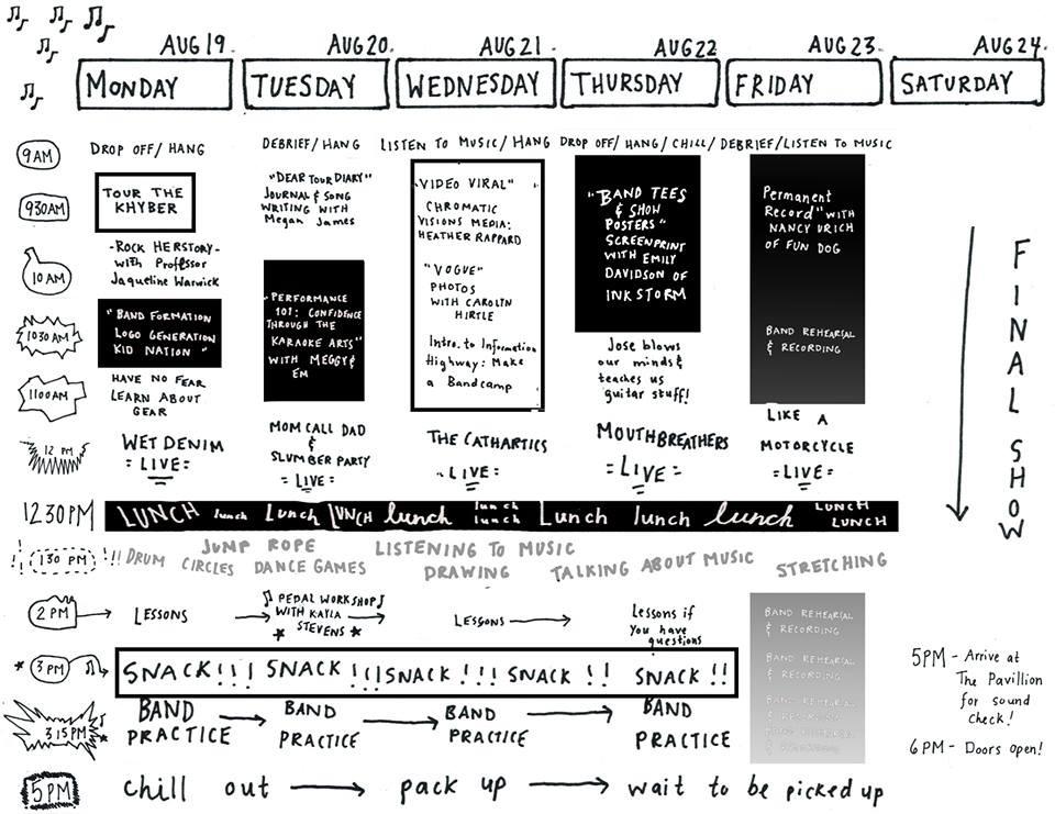 The 2013 camp schedule