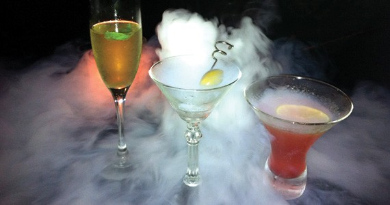 The Aromatic Mist (centre) really steams up the night. - KRISTEN PICKETT