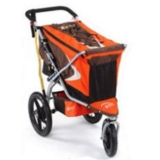 The Bob Cargo Carrier in Mesa Orange.The blue version seemed too postal.