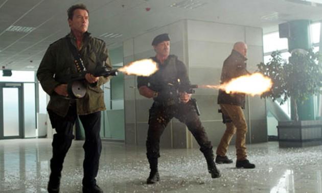 The boys going guns blazin'