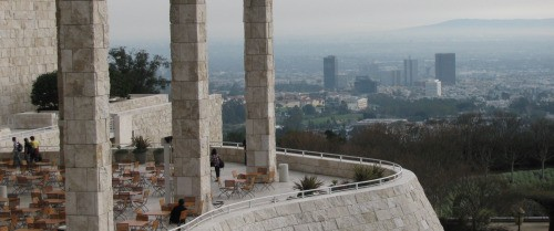 The Getty Centre is like Valhalla over Century City
