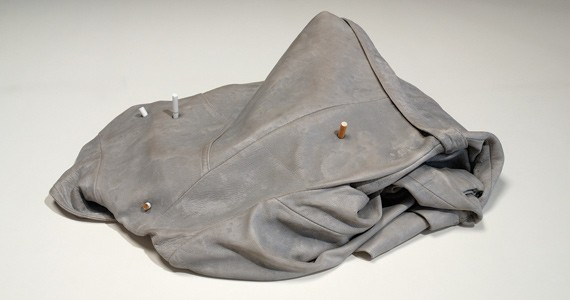 The influential Liz Magor's Leather (4 cigarettes). - LIZ MAGOR