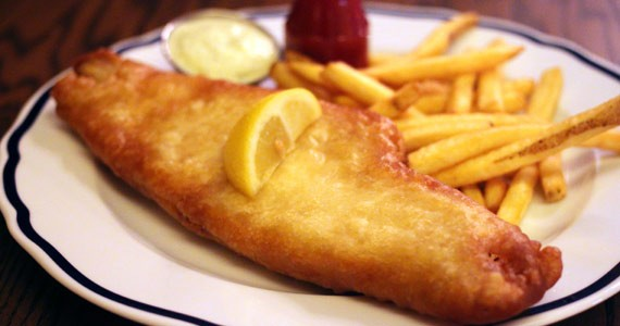 The light, mild and flaky fish and chips.