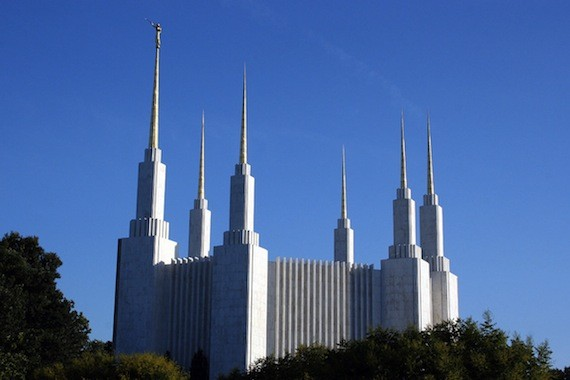 The Mormon Temple in Washington, DC.