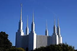 The Mormon Temple in Washington, DC.