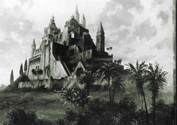The mythical Xanadu, as portrayed in the opening scene of Citizen Kane.