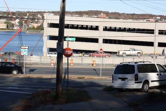 The new parking garage for the Irving Shipyard block views of the harbour from the adjacent north end neighbourhood.