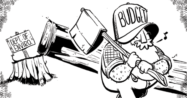 The new provincial budget chops environment by five percent. - JUSTIN LEE