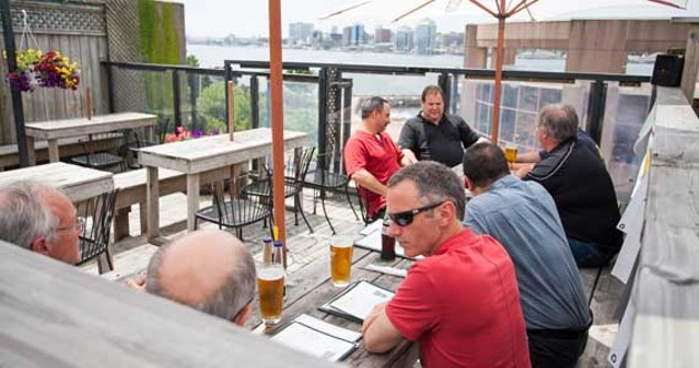 The patio at Celtic Corner features refreshing beer and a great view of Halifax. - SCOTT BLACKBURN