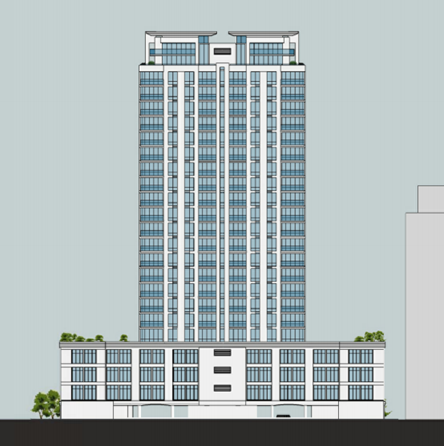 The proposed look of the Robie Street development.