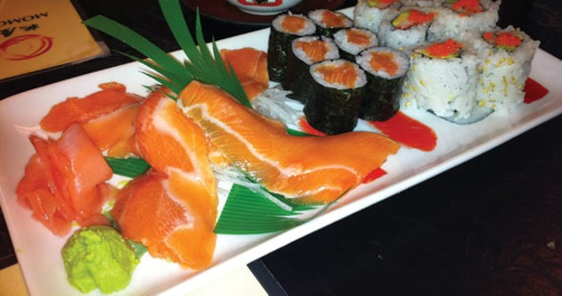 The salmon platter is disappointing. - KRISTEN PICKETT