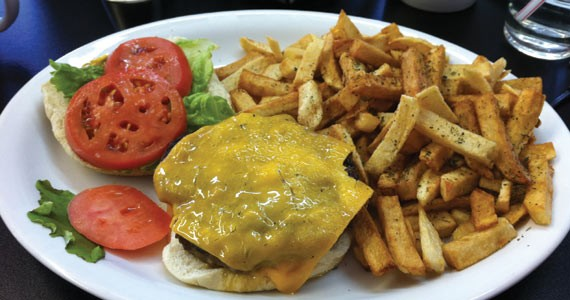 The South End Diner's deluxe cheeseburger has a perfect patty-to-bun ratio. - KRISTEN PICKETT