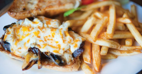 The steak sammy requires a knife and fork - ANGELA GZOWSKI