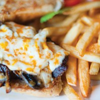 The steak sammy requires a knife and fork