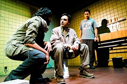 Theo Pitsavis, Ali Momen and Karan Oberoi star in Masked, directed by Anthony Black.
