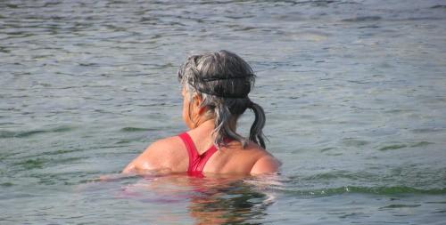 Sue watches water