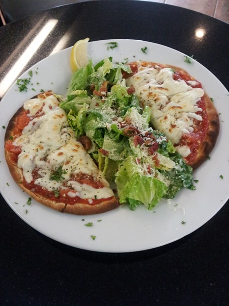 Try a pita pizza, at Oliver's