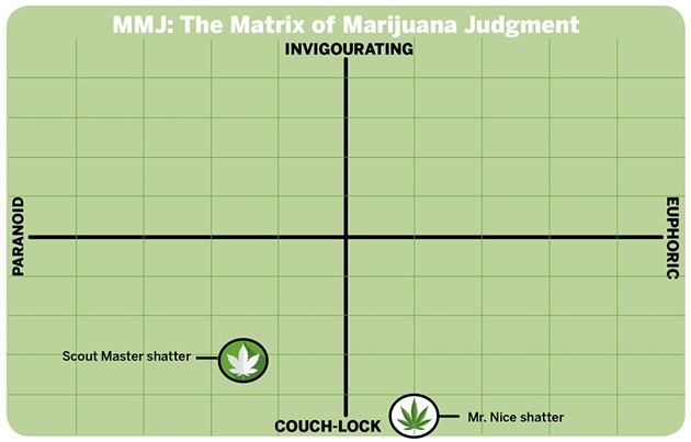 Mr. Nice would like you to join him on the couch, says the Matrix of Marijuana Judgment.