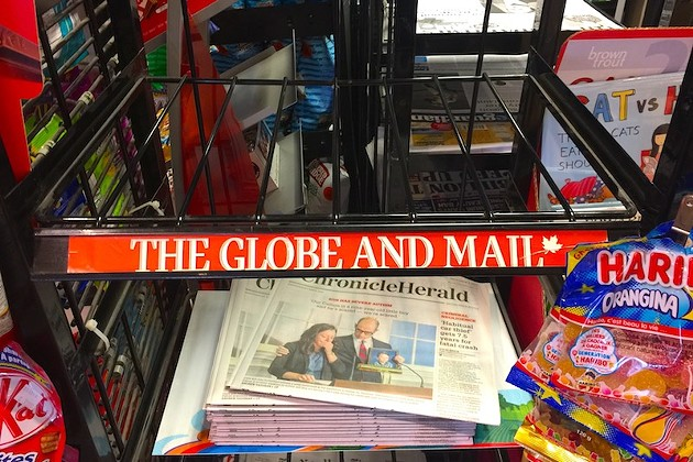 Extra! Extra! The Globe and Mail has left Atlantic Canada, but it's not forgotten.