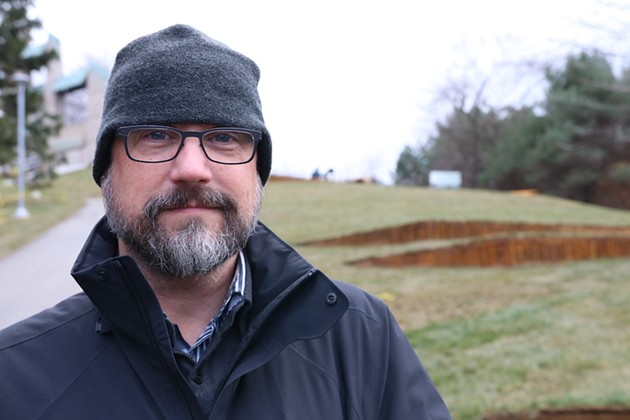 Designer John deWolf at Fort Needham Memorial Park. - NOAH WIDMEYER