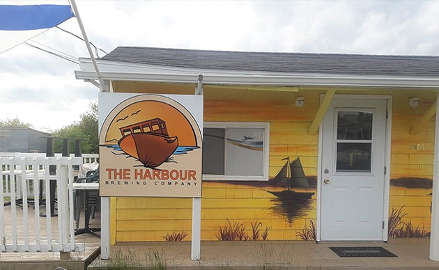 The harbour-themed mural inspired Harbour - Brewing's logo. - VIA FACEBOOK