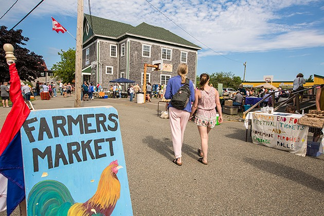 Grand Manan farmer's market. - SUBMITTED