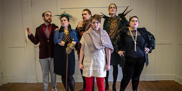 Dan Bray, Stepheny Hunter, Nick Cox, Colleen MacIsaac, Lara Lewis and Jessica Oliver (costumes by Kaelen MacDonald) - STOO METZ