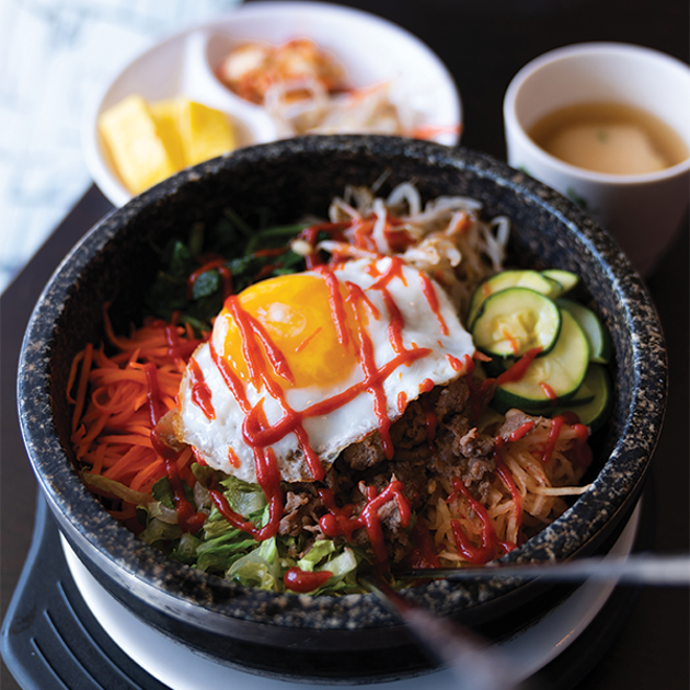 A dolsot bibimbap at Song's Korean Restaurant. - IAN SELIG