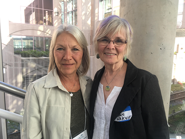 Barb Ewert (Left) and Susan Harvie (right) both have sons with autism, but they hope their co-housing development will change their quality of life. - THE COAST