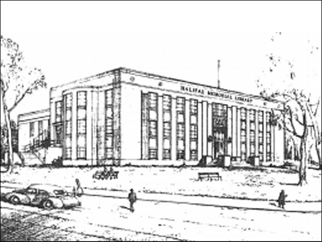 Architect Leslie Fairn's proposal for the Halifax Memorial Library, circa 1948. HRM