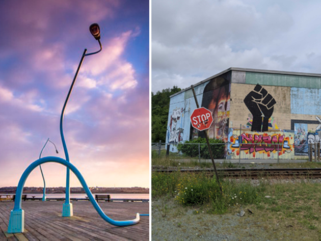 Explore the city and take in the waterfront's Drunken Lampposts and King's Wharf's latest mural. - THE COAST