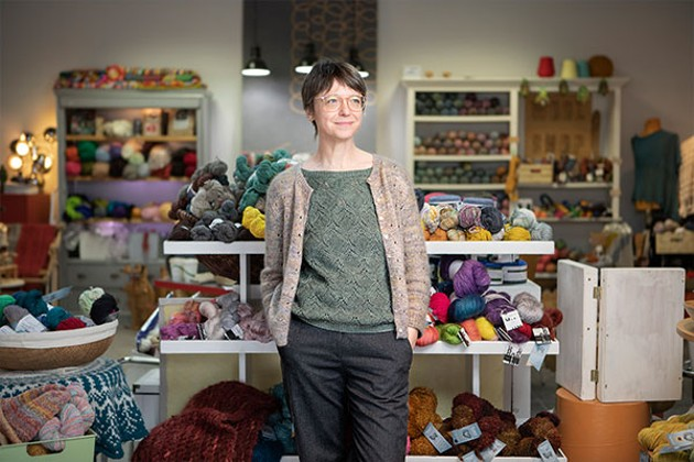 Mimi Fautley, owner of The Loop, Halifax's go-to knitting shop on Barrington Street, says getting into crafting helped a lot of people feel productive during the pandemic. - CHRIS GEWORSKY