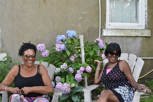 Despite the virus, Cecelia Gray (left) and Cynthia Colley-Murray were able to honour lives lost. - THE COAST