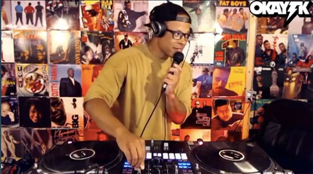DJ OKAY TK turnin' up on Twitch. - SUBMITTED