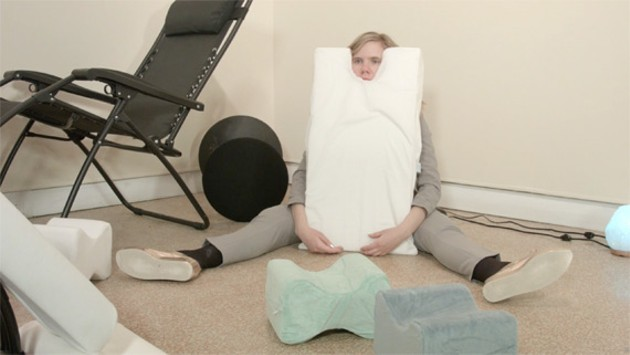 Moser in a still from Memory Foam, shot on location at MSVU by Tim Tracey. - COURTESY OF THE ARTIST