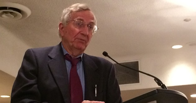 Seymour Hersh speaks at the CAJ conference in Halifax on June 6. - DONNA LEE