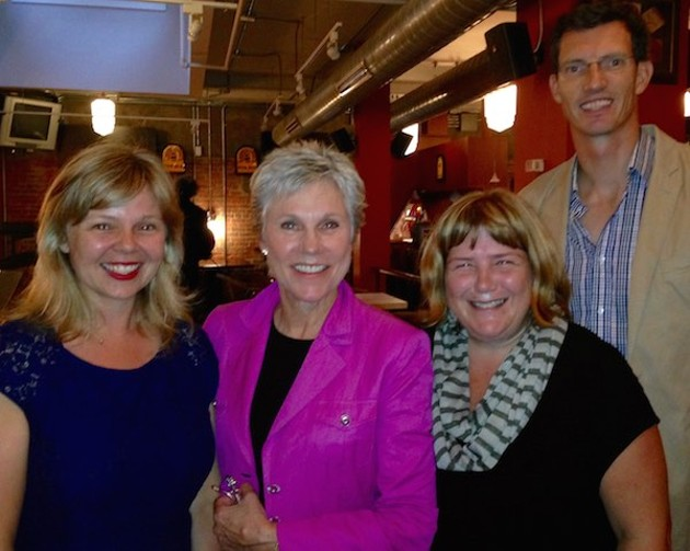Anne Murray—Canada's Barbra Streisand, the east coast's Joni Mitchell, one of the first inductees to the Casino Nova Scotia Music Hall of Fame—with her close personal friends from The Coast. - FRAN ZANKOWSKI