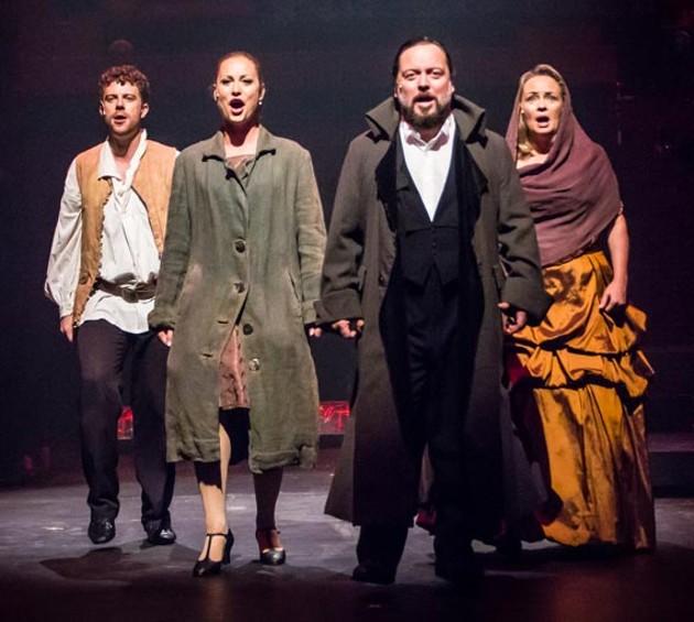 Jordan Bell, Dayna Tietzen, Jeremy Webb and Martha Irving star in Broadway On Argyle Street. - STOO METZ