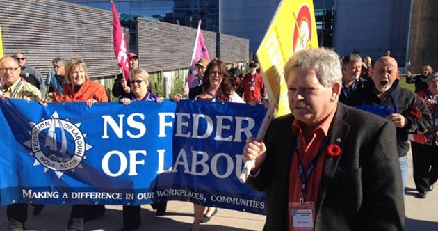 Rick Clarke was first elected president of the Nova Scotia Federation of Labour in 1989. - TONY TRACY