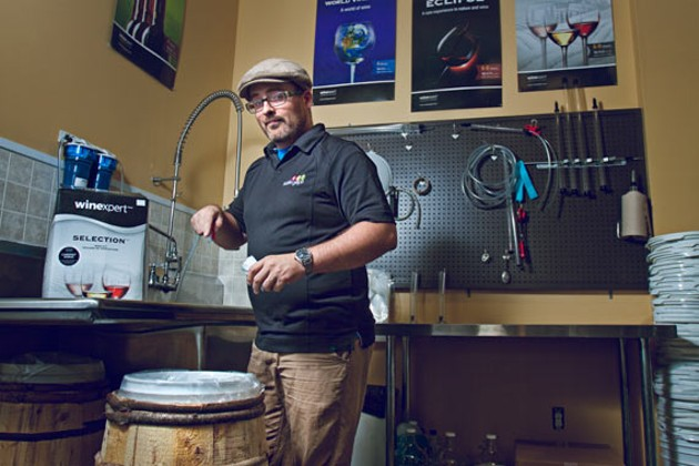 "Noble Grape's Shean Higgins calls at-home winemaking ""foolproof."" - LENNY MULLINS"