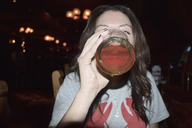 "Stats suggest that students are boozing less hard, but one fifth-year student says the reality is ""it's not much different than it used to be."" - ALLIE SWEETING"