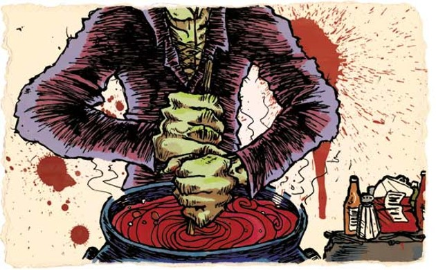 """Chef Terry Vassallo says, """"Blood can conjure up primordial recollections."""" - MATT BUSTIN"""