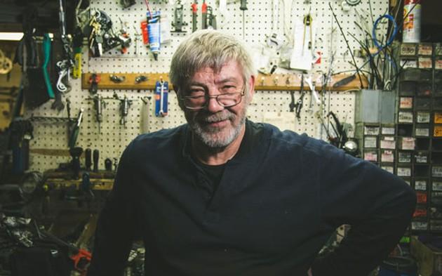 Nauss Bicycle Shop's second-generation fixer, Dave Nauss. - DYLAN CHEW