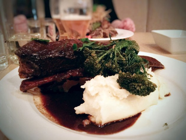 Primal Kitchen's Henry VIII portion of short rib and unrivalled creamy mashed potatoes.