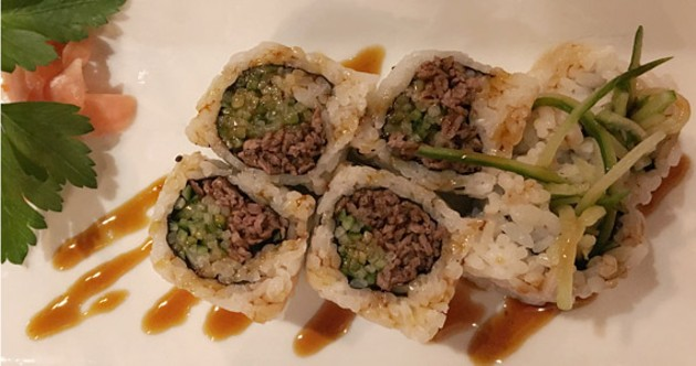Sushi Jet's Green Dragon roll is perfectly fine.