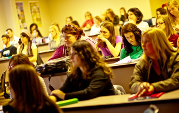 University students who won't likely be learning feminist theory in Sackville, NB - VIA MOUNT ALLISON